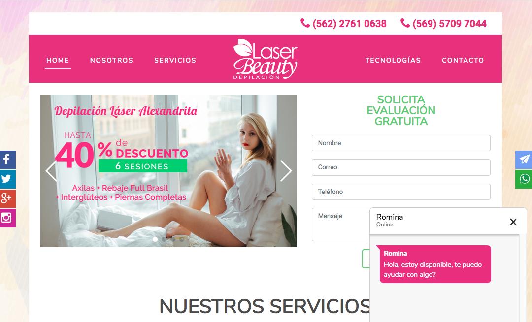 Láser Beauty, Centros depilación láser en Providencia