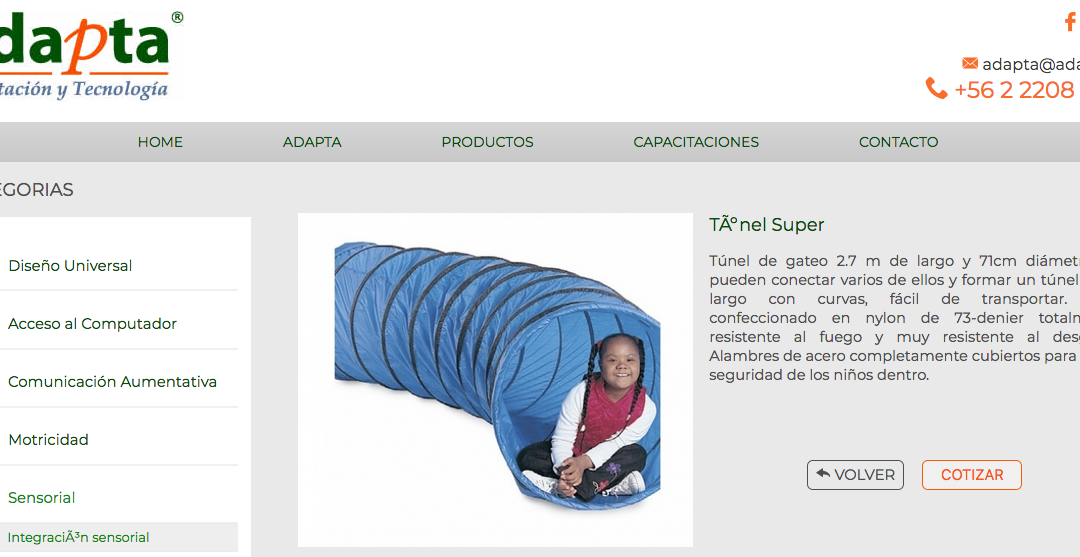 Adapta, productos para Autismo en Santiago