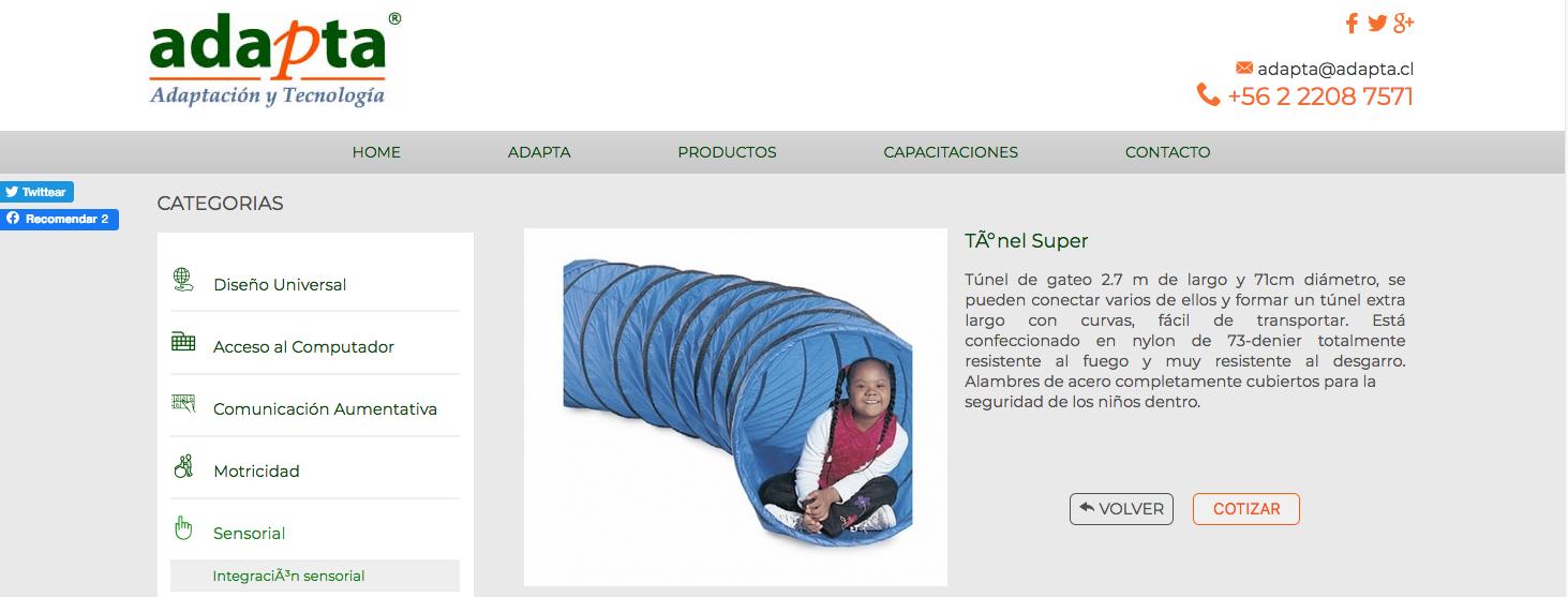 venta de equipos de Inclusión en chile