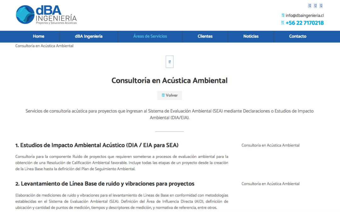 DBA Ingeniería, Estudios Acústicos en la RM