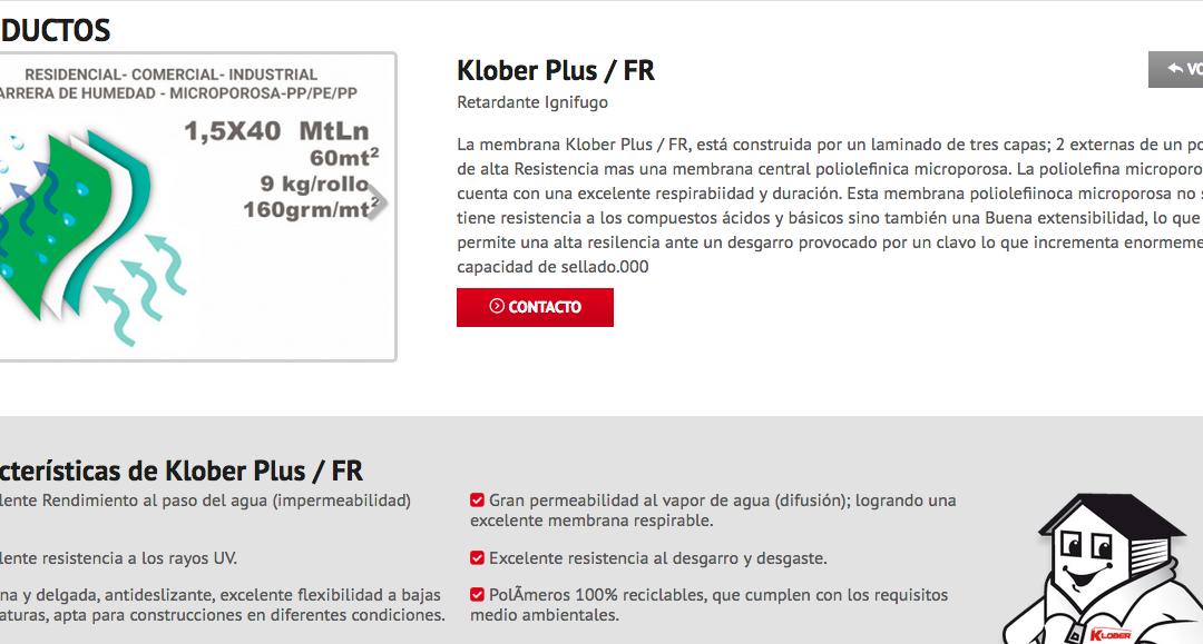 Klober, fabricantes de barrera de vapor