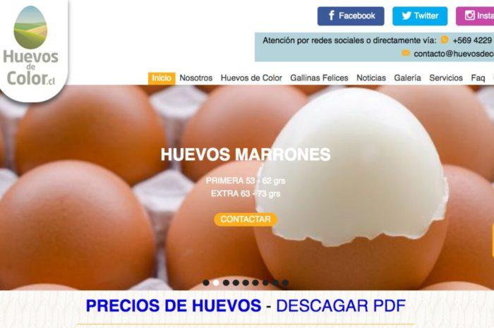 Huevos de color en chile